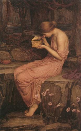 Psyche opening the golden box (J.W. Waterhouse, 1903)